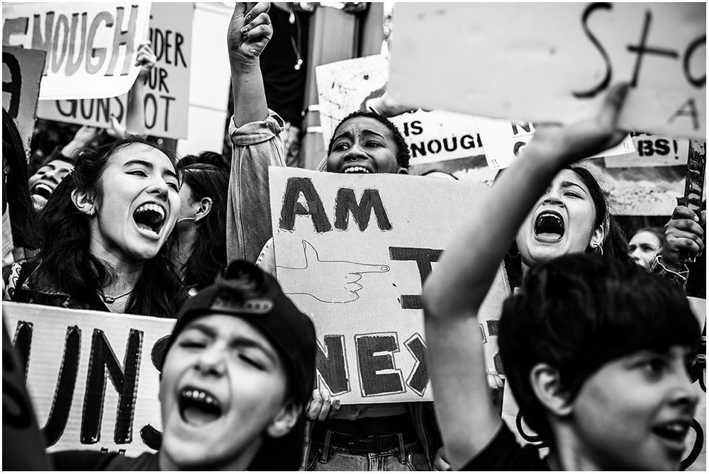 """March For Our Lives"" Pershing Square to City Hall Los Angeles, California 24th March 2018"