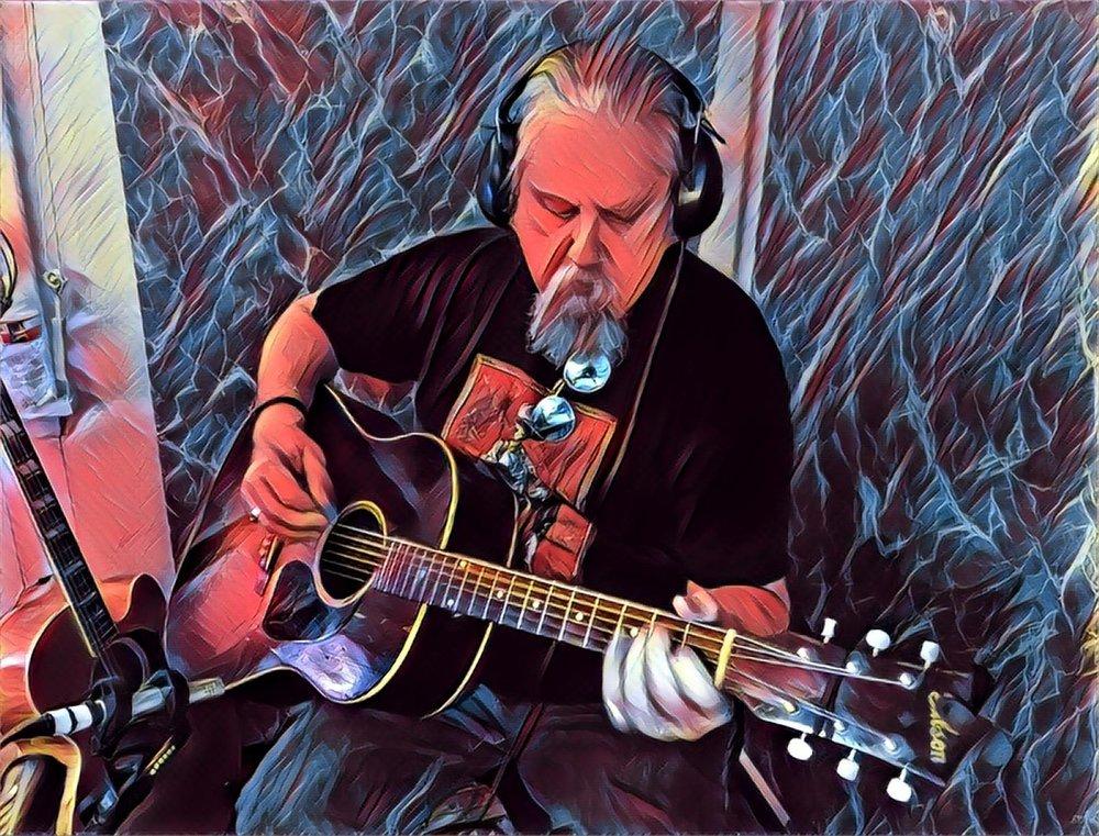 Chris rockin' out @ White Cat Studio in Houston, Texas!