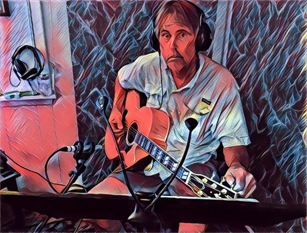 David laying down rhythm tracks on KID's debut album! @ White Cat Studio in Houston.