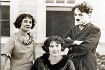 -       Lita Grey and her mother, pictured with Charlie Chaplin. Lita was impregnated by Charlie as a teenager.
