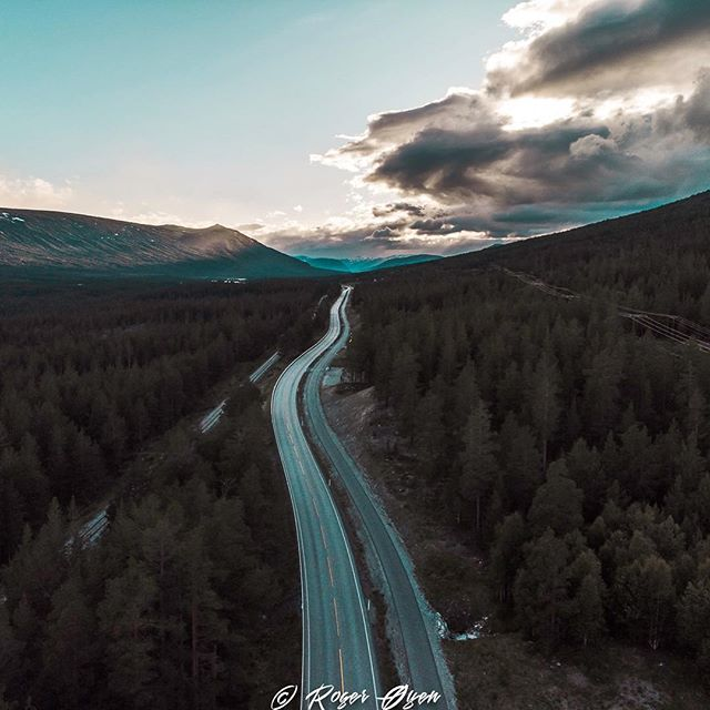 """They say the open road helps you think. About where you've been and where you're going."" #beautiful #rogeroyen #visitnorway #norway #agameoftones #earth #nature #road #fjord #natgeo #travel #roadtrip #earthfocus #clouds #sunset #forest #follow #quote #drone #dji #djimavicair #dronestagram #quads #picoftheday #photooftheday"