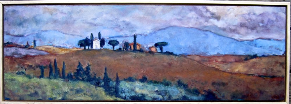 Chapel and Fields, Val D'Orcia