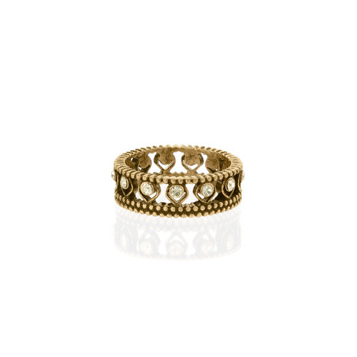 GOLDEN LOTUS CRYSTAL RING