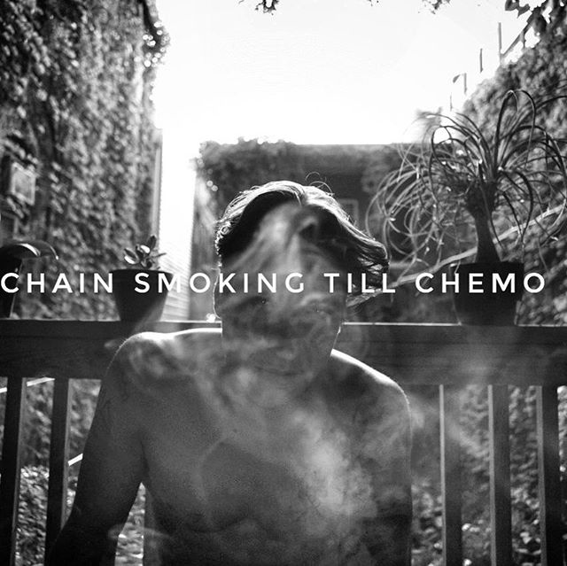 CHAINSMOKER. #bfonck #chicago #nyc #losangeles #cure #cancer #with #creativityfound #book #sale #preorder #collaboration #cure #cancer #with #spilledink #ink #blood #dna #writerswrite #writerscommunity #poetsofinstagram #goingmad