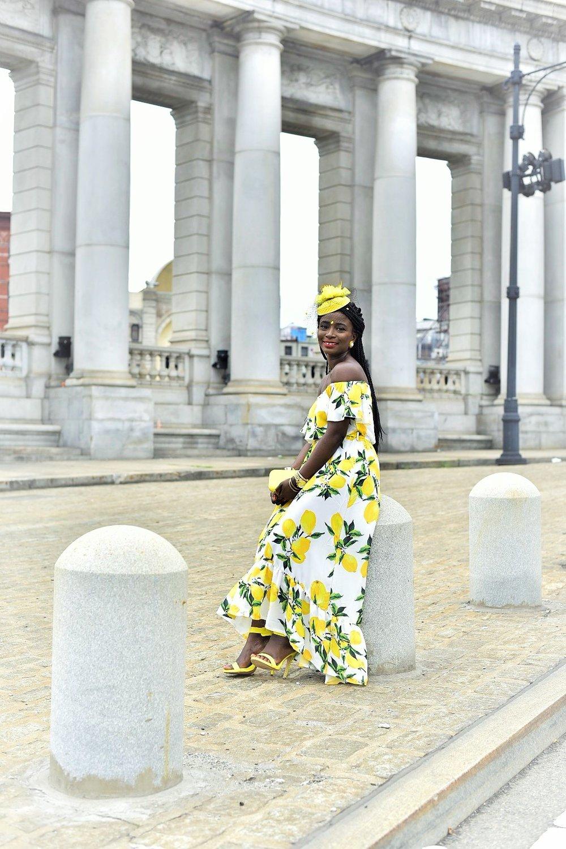 Street-Style-Lemon-Print-Dresses