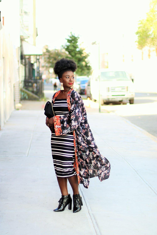 Floral-Print-Kimono-And-Dress