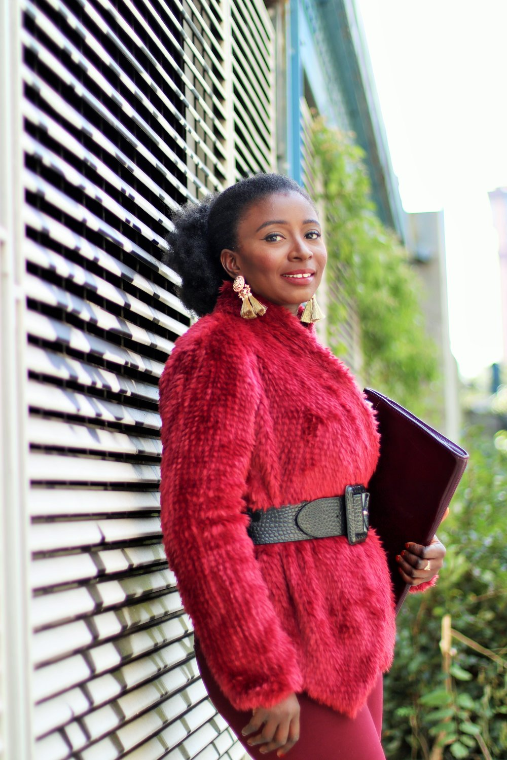 Faux-Maroon-Coat-Outfit-Ideas