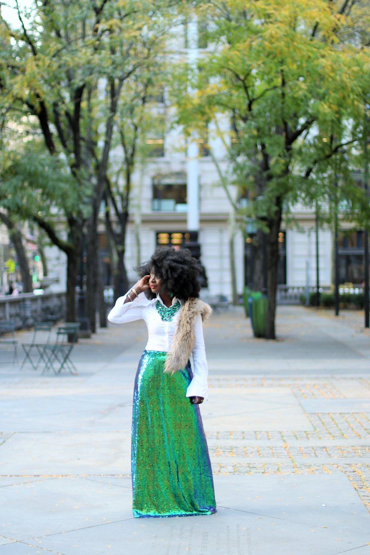 Evening-Wear-Sequins-Skirt