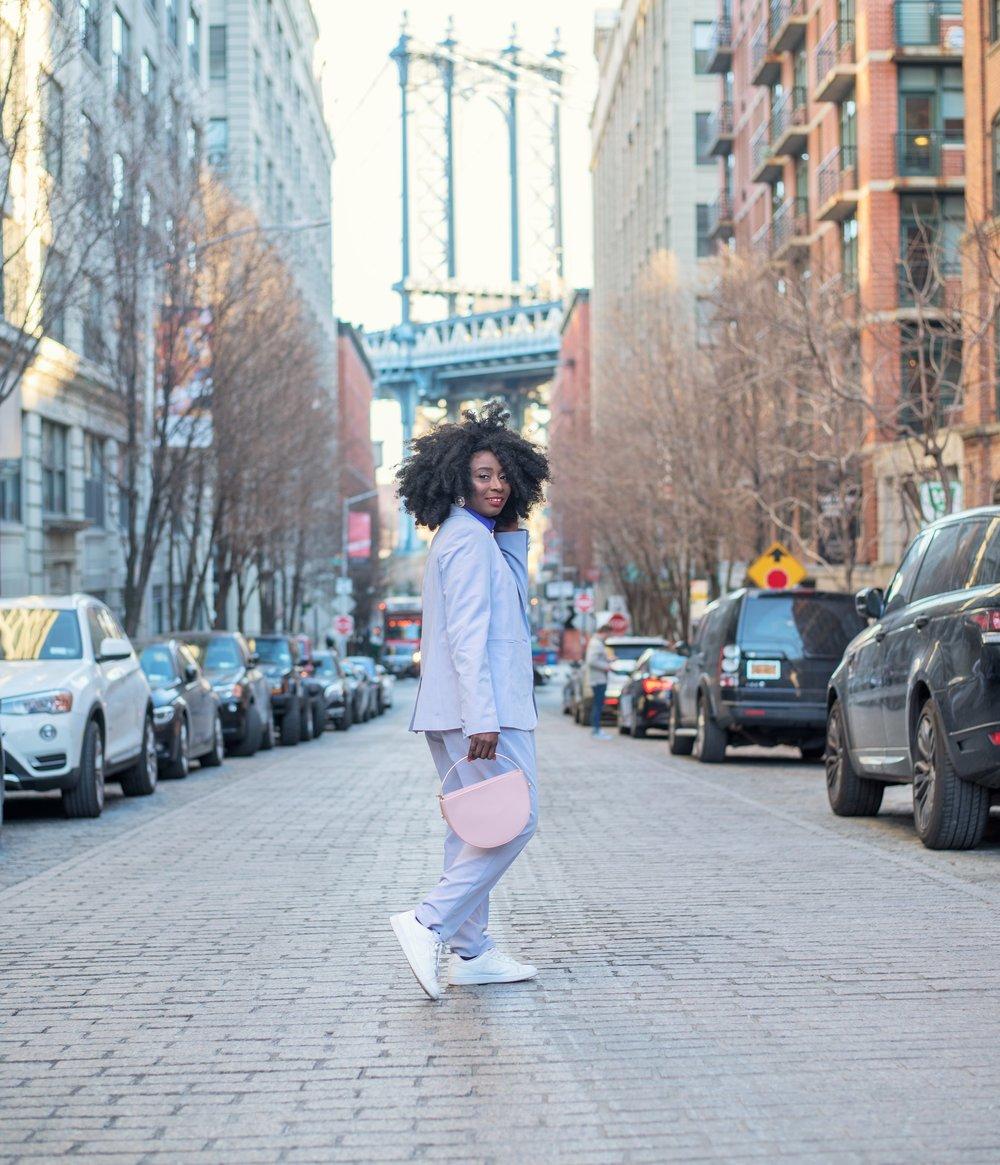 Street-Style-Lavender-Pant-Suit