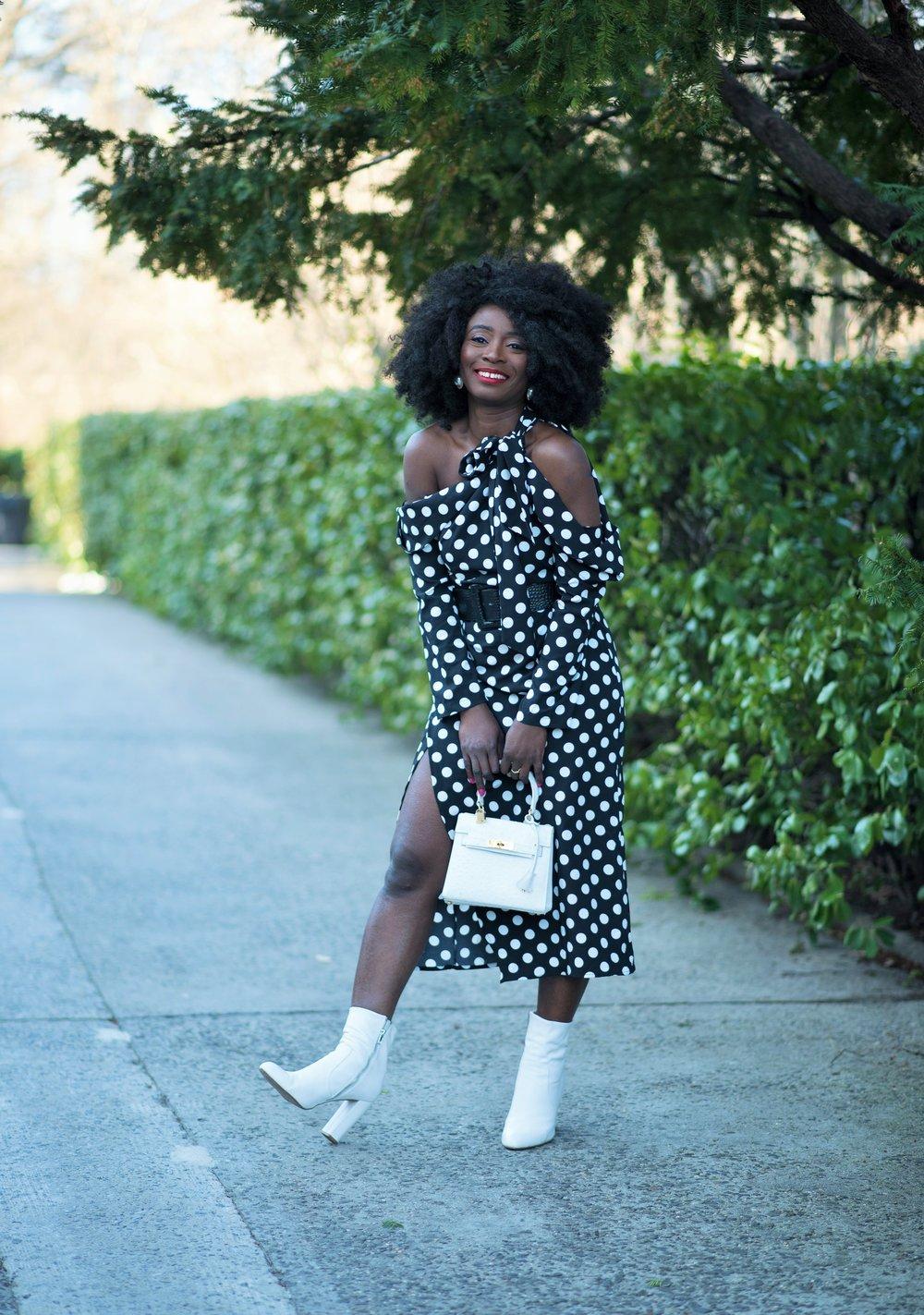 Street-Style-Polka-Dots-Dress
