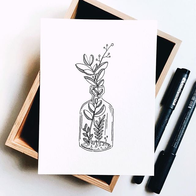 Inktober_18 | BOTTLE · · ·  #whitechaircreative #inktober #inktober2018 #illustration #penandink #thenativecreative #carveouttimeforart #createeveryday #lifeofanartist #artinprogress #bottle #floral