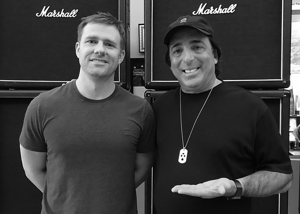 Matt with multiple Grammy winning mix engineer Chris Lord-Alge.
