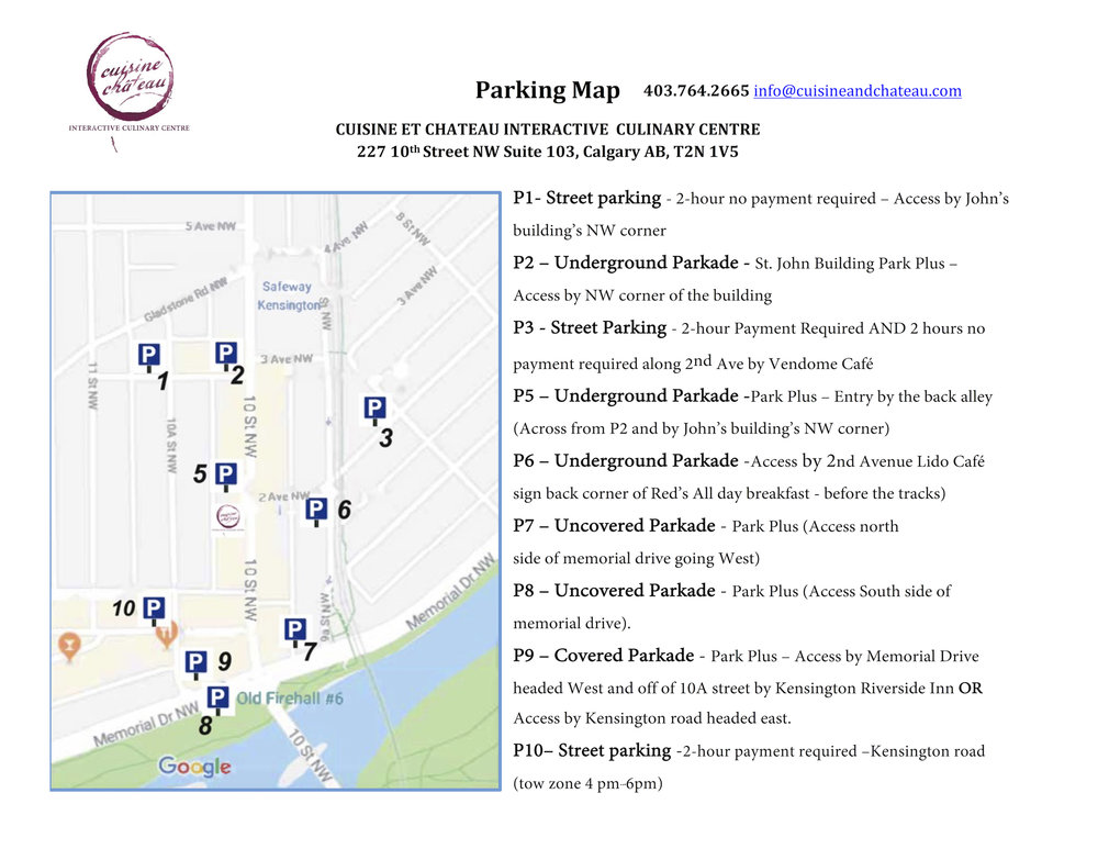 Parking Map Cuisine et Chateau