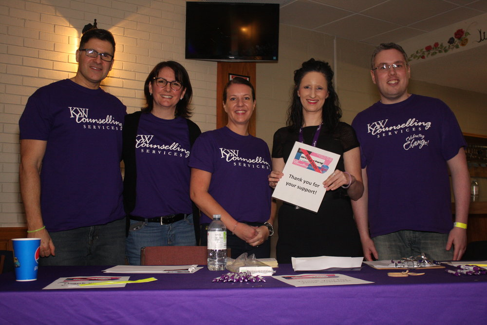 KW Counselling representatives thanked attendees for their support - Photo by Elissa Den Hoed. Courtesy SnapdKW
