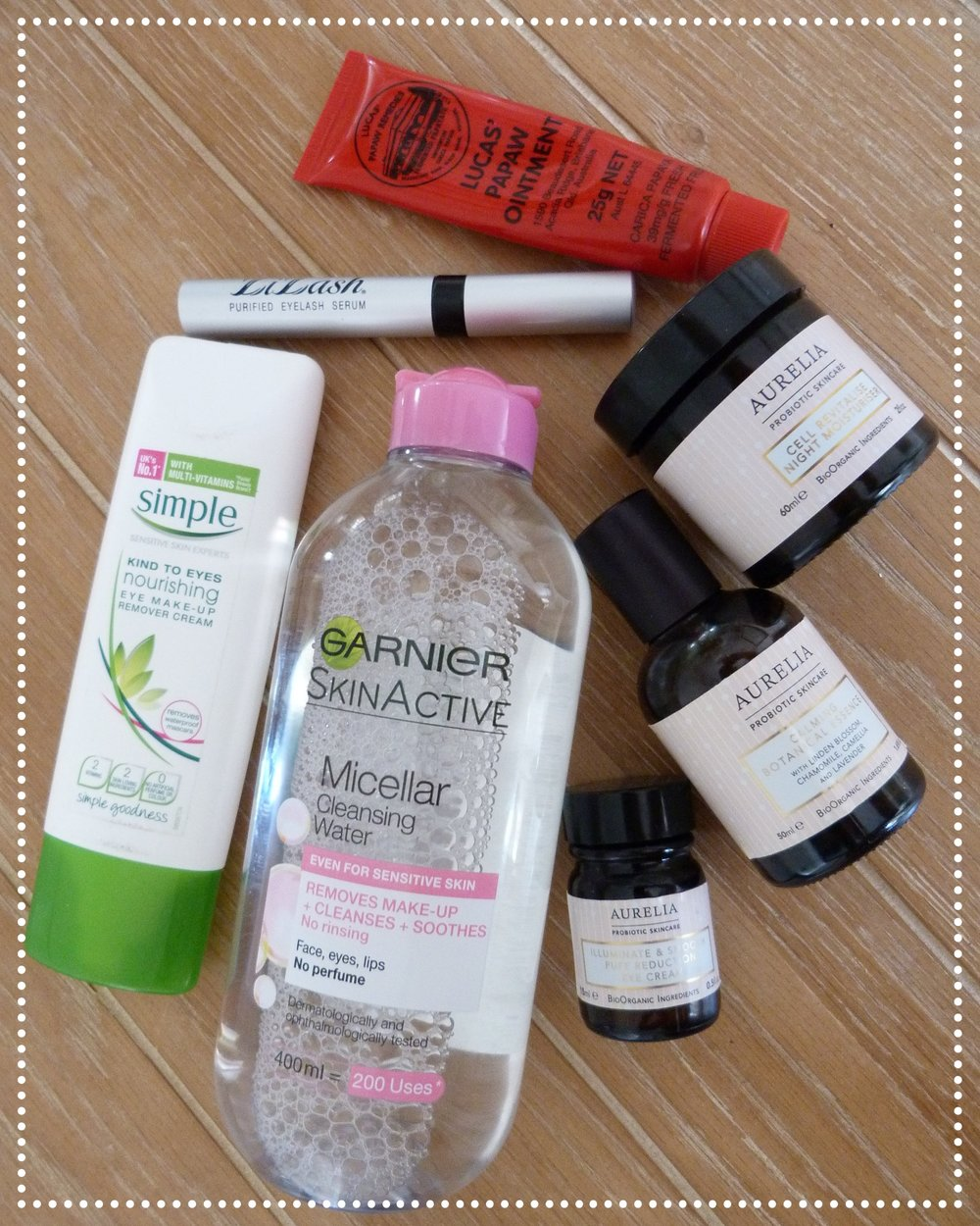 Products in My Evening Skincare Routine