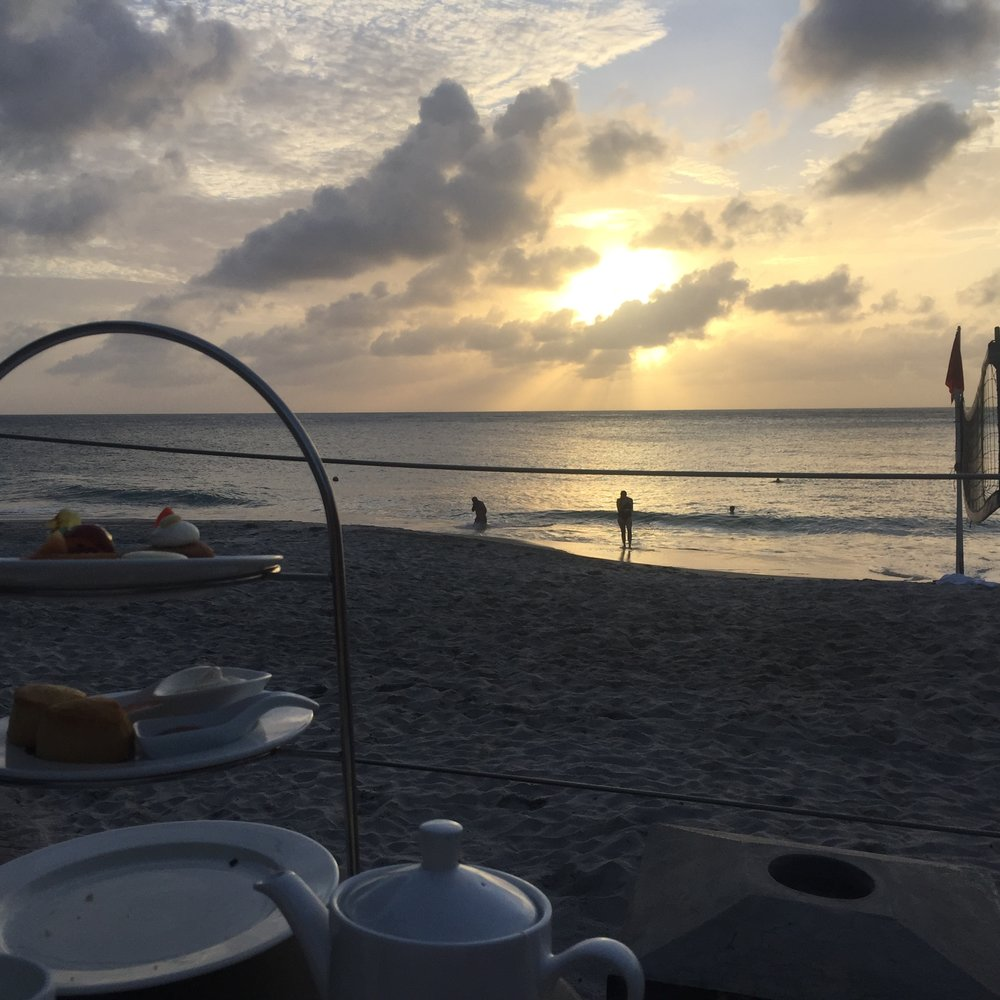 Sunset & afternoon tea at Carib Blue beach, BoddyHoliday St Lucia