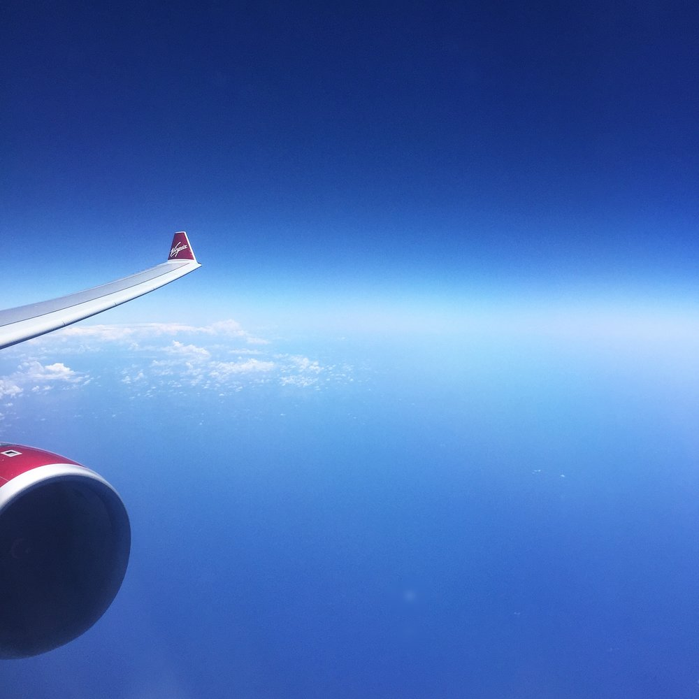 Virgin Atlantic Plane over ocean