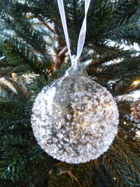 the white company glass bauble