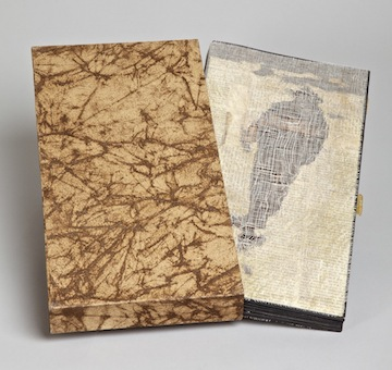 Pas(t)ime - 2010.Artist Book with box: book board & pages, mull, papers, gesso, collograph & intaglio prints.5 x 12.25 x 1 inches