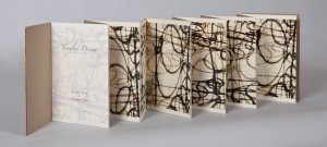 Tangled Dreams, 2012 Artist Book with wrap. 8.25 x 8.13 x .33 inches