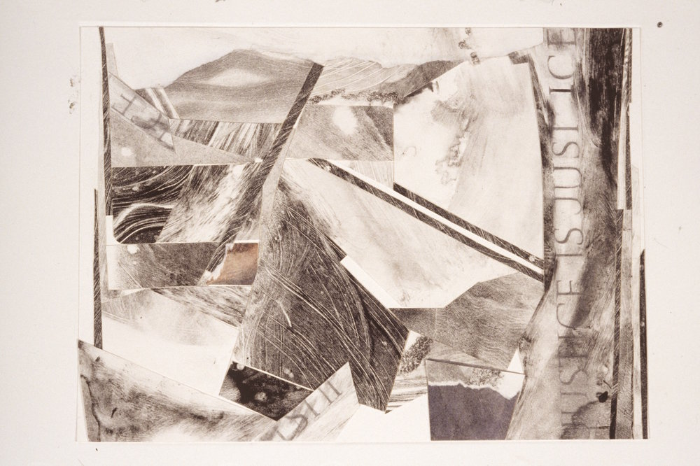 Mixed Media Collages - 1993.Mixed Media Collages: ink, graphite, watercolor, paper ..
