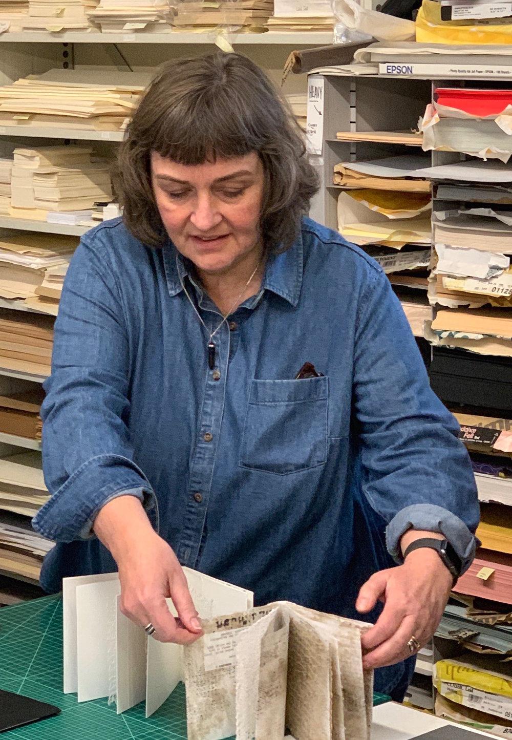 Arnprudur Osp Karlsdottir (Iceland) showing her artist book