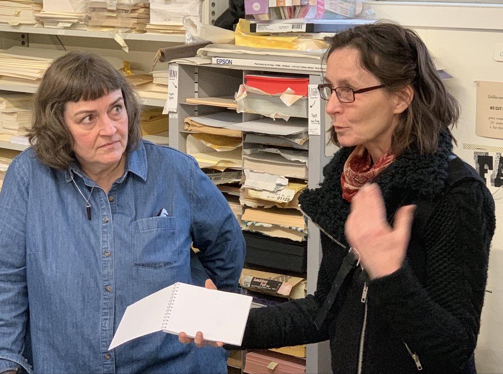 Randi Annie Strand (Norway) presenting her artist book.