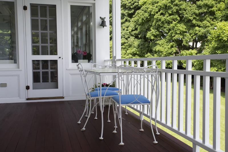 nahant custom mahogany deck