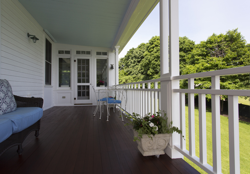 nahant mahogany deck entrance