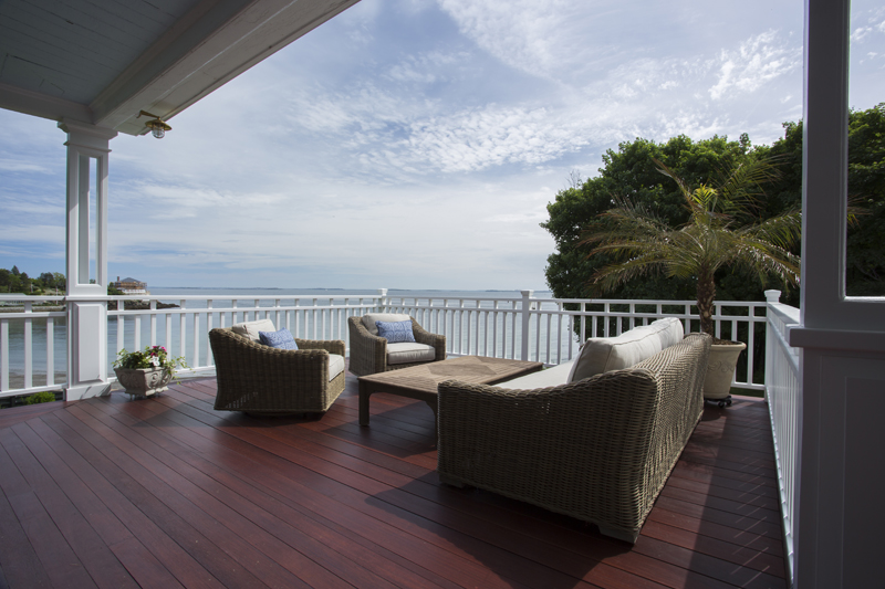 nahant mahogany deck sitting area