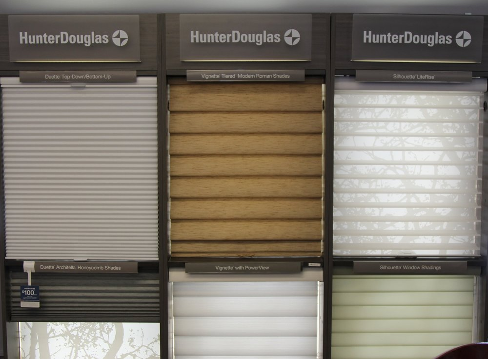 Hunter douglas window treatments showroom