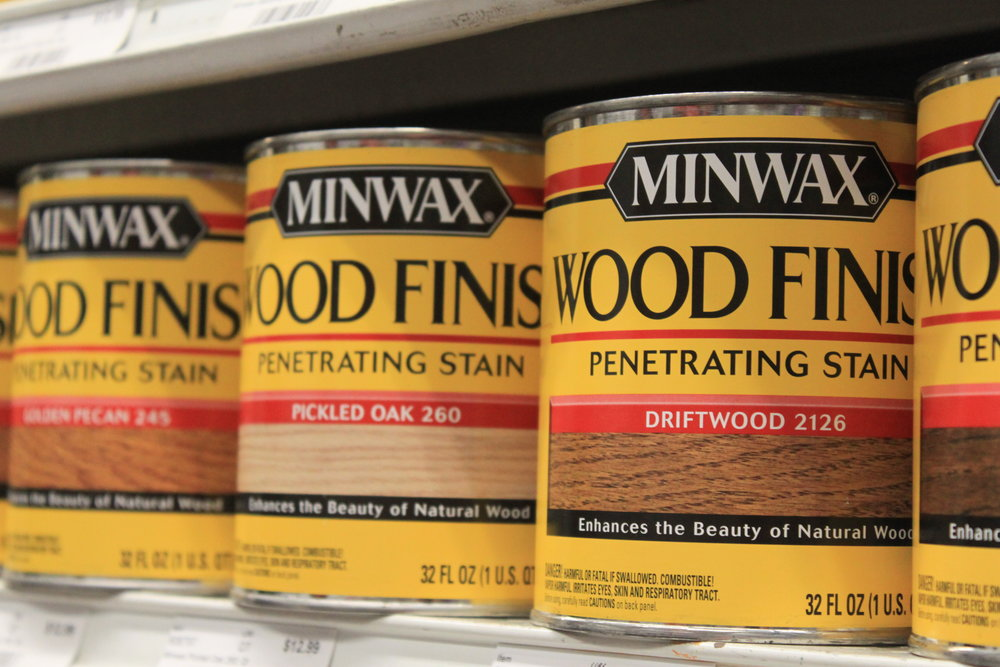 minwax  Minwax offers a complete line of wood finishing products for homeowners, including stains, finishes, fillers and cleaners.