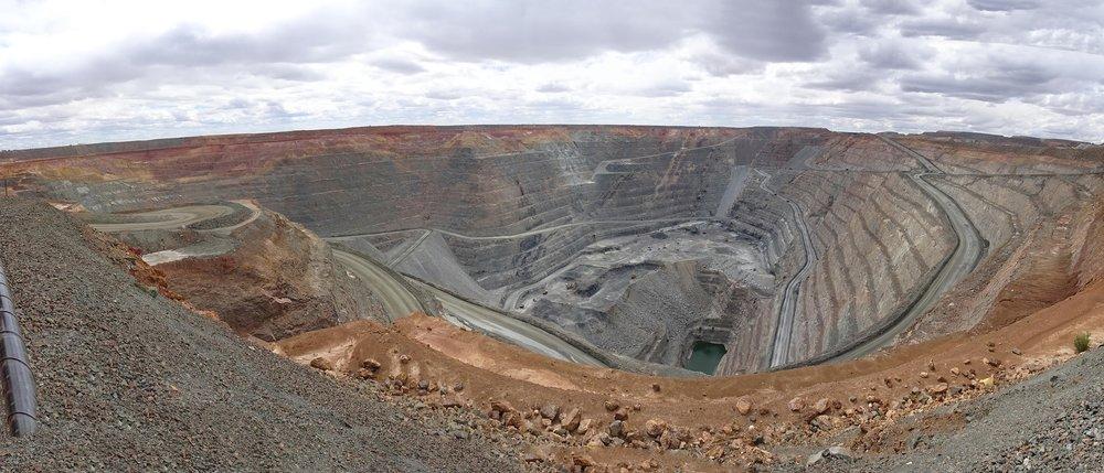 Gold mining in Western Australia.
