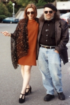 """Janet and Stu at opening """"I Stopped Breathing"""" 1996"""