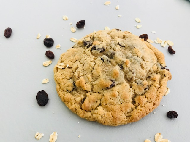 Oatmeal Raisin - For you weird people who think raisins are appropriate to put in cookies (YOU know who you are) we have heard you. We have done our best to make this wrinkled fruit taste deceitfully tangy and delightful...doubt us? Try it. We dare you. You'll be amazed.