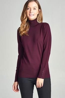 Copy of Plum Turtleneck Sweater