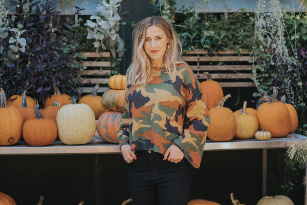 Cottontail Camo Sweater | The Simplistic Chic