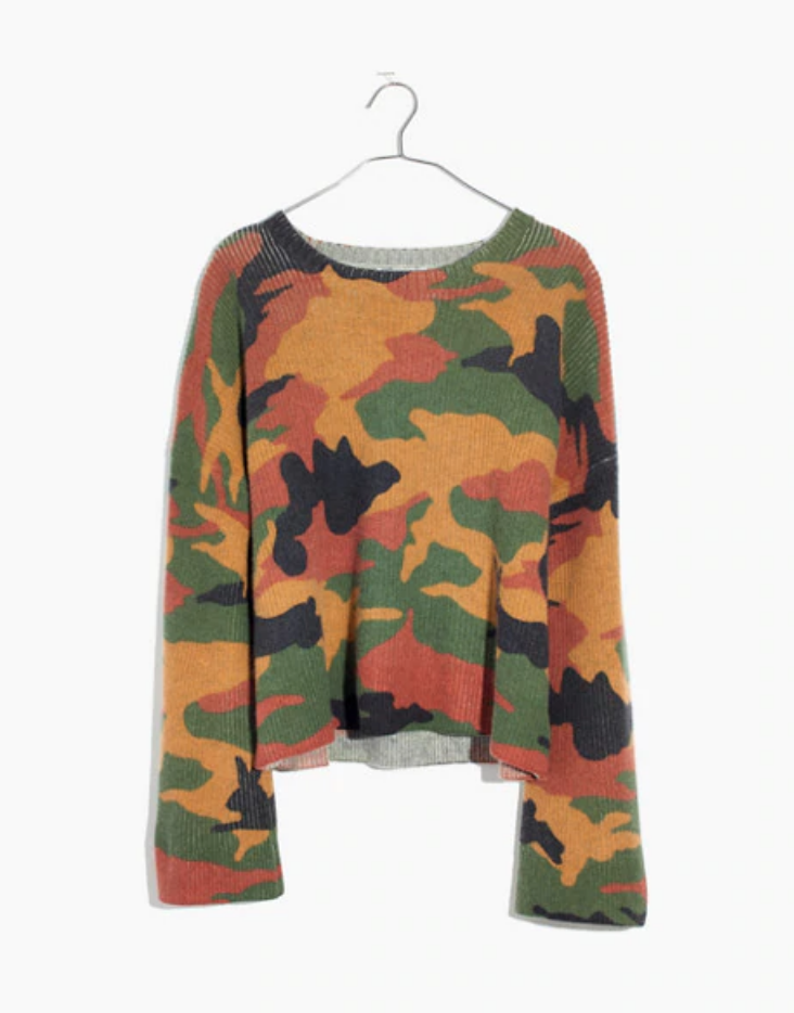 Madewell Cottontail Camo Sweater