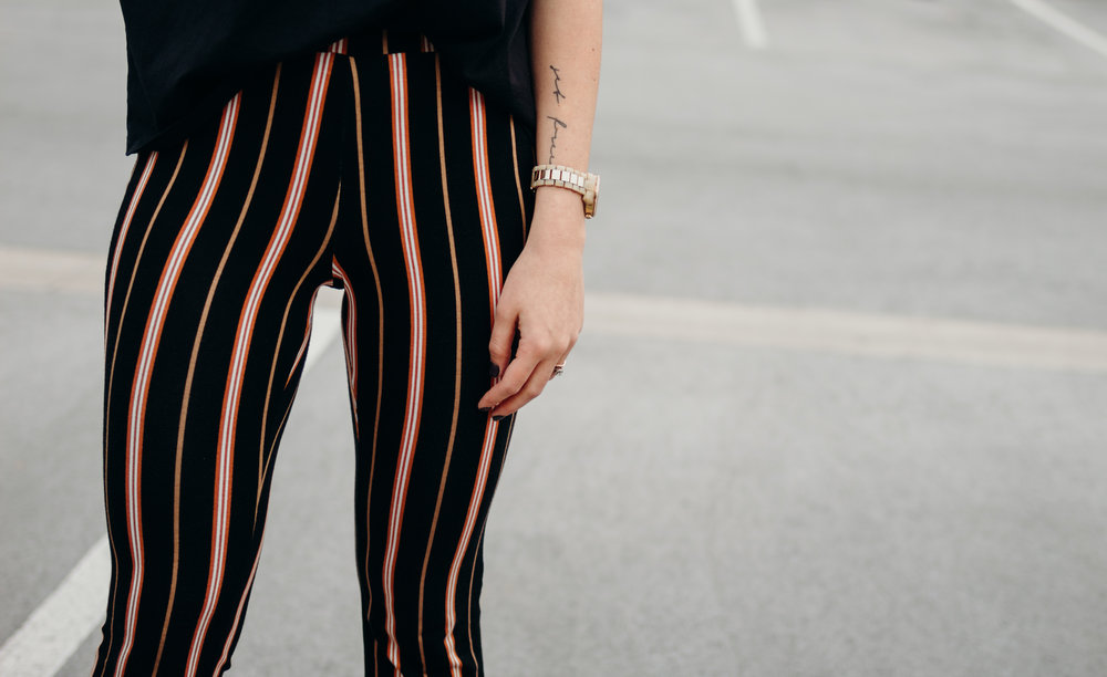 Striped Crop Pants | The Simplistic Chic