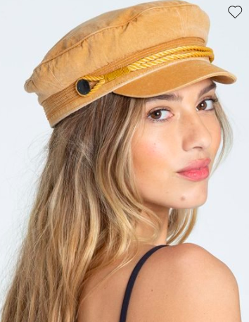 Mustard Captain Hat