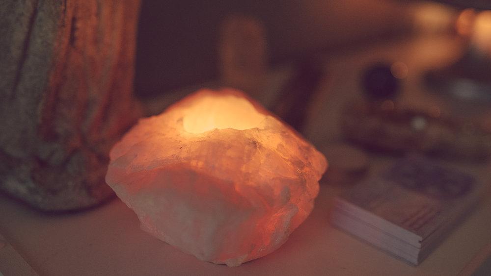 Rose quartz crystal