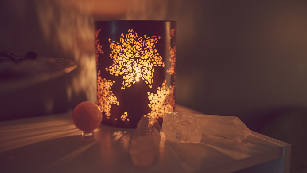 Calming candlelight