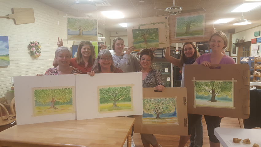 Watercolor class with Silke Tyler