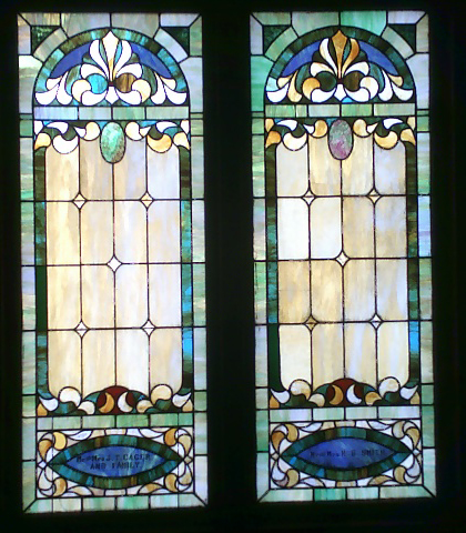 Stained glass classic design window