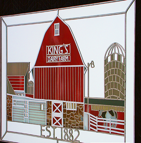 Stained glass art film family farm mirror
