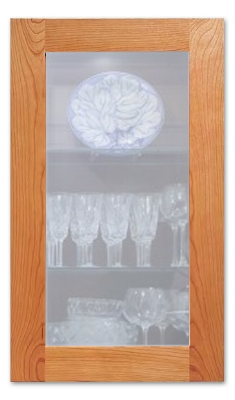 Light Frost Cabinet Glass Insert