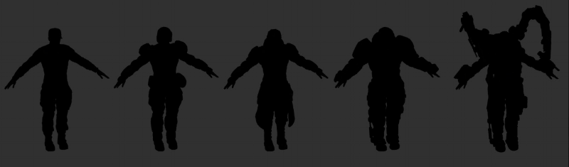 New Jericho class silhouettes.
