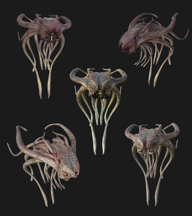 A floating creature concept