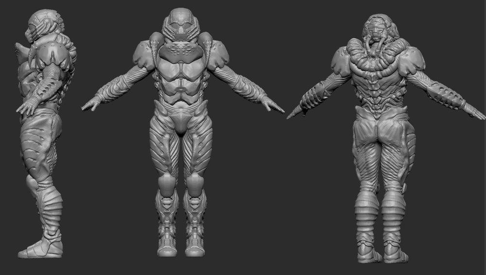 The Alien Chitin Armor set