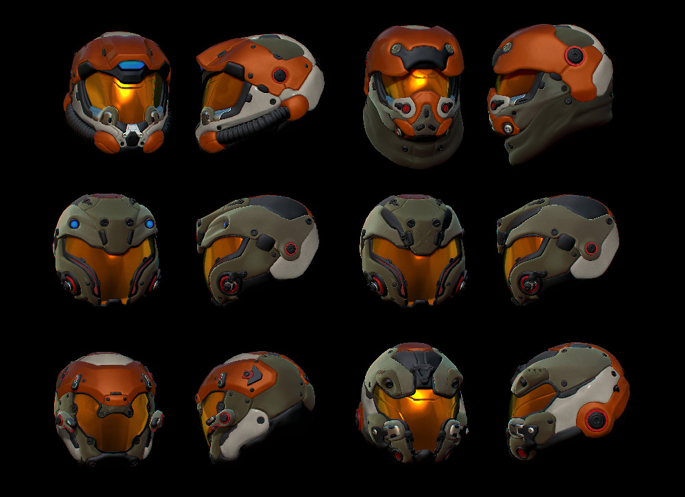 A selection of Phoenix Project Heavy helmets